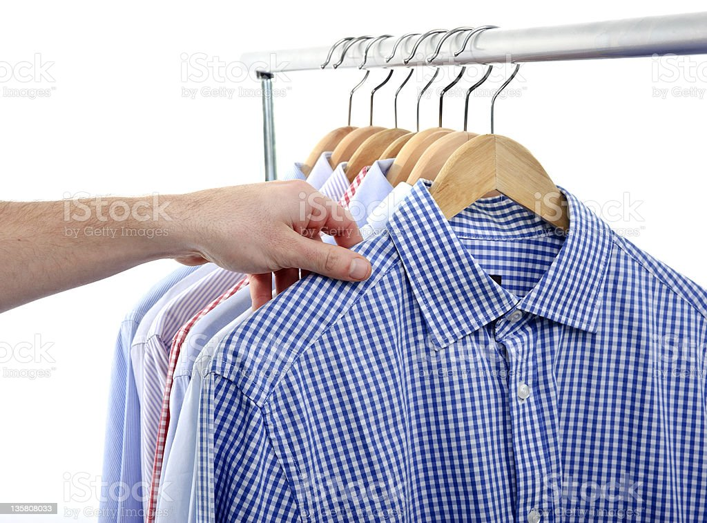 Different shirts stock photo