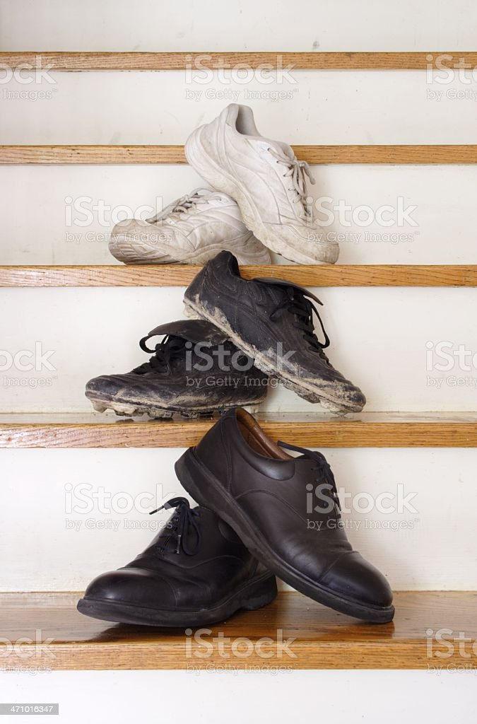 Different Shoes royalty-free stock photo
