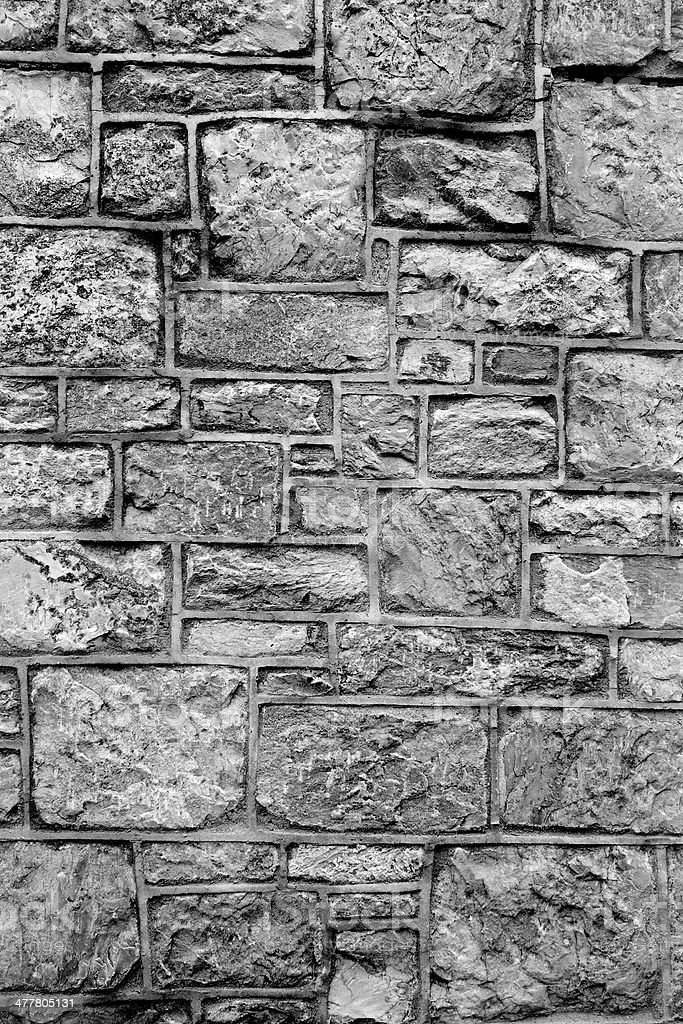 different sizes of grey brick wall textured background royalty-free stock photo