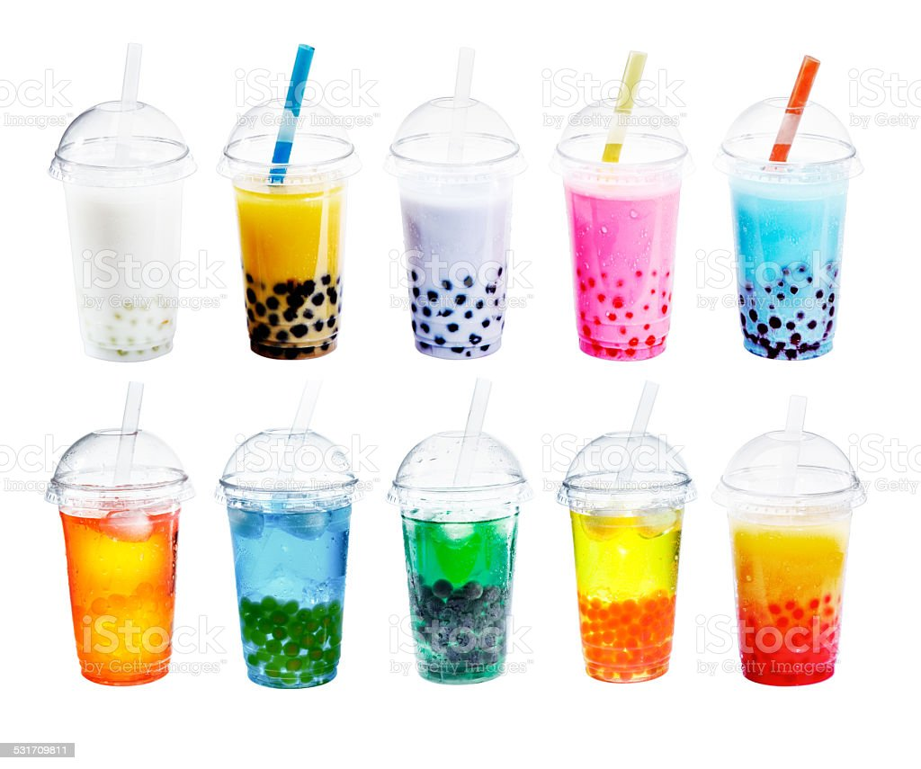 Different sorts of Boba stock photo