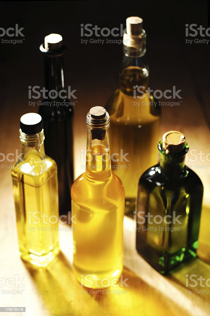 different sorts of cooking oil royalty-free stock photo