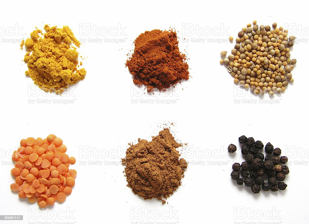 Different spices royalty-free stock photo