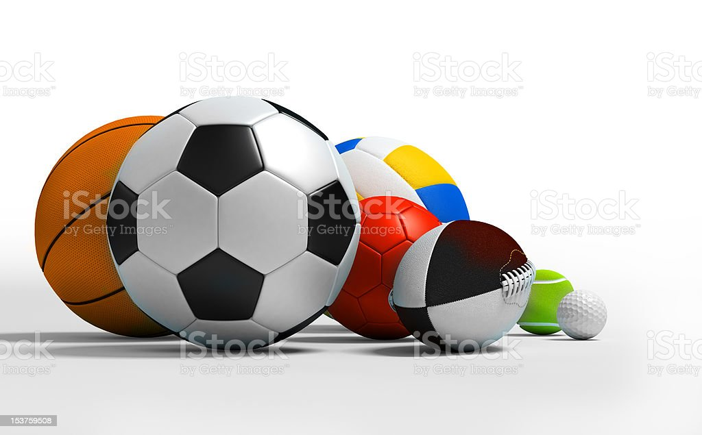 different sport balls stock photo