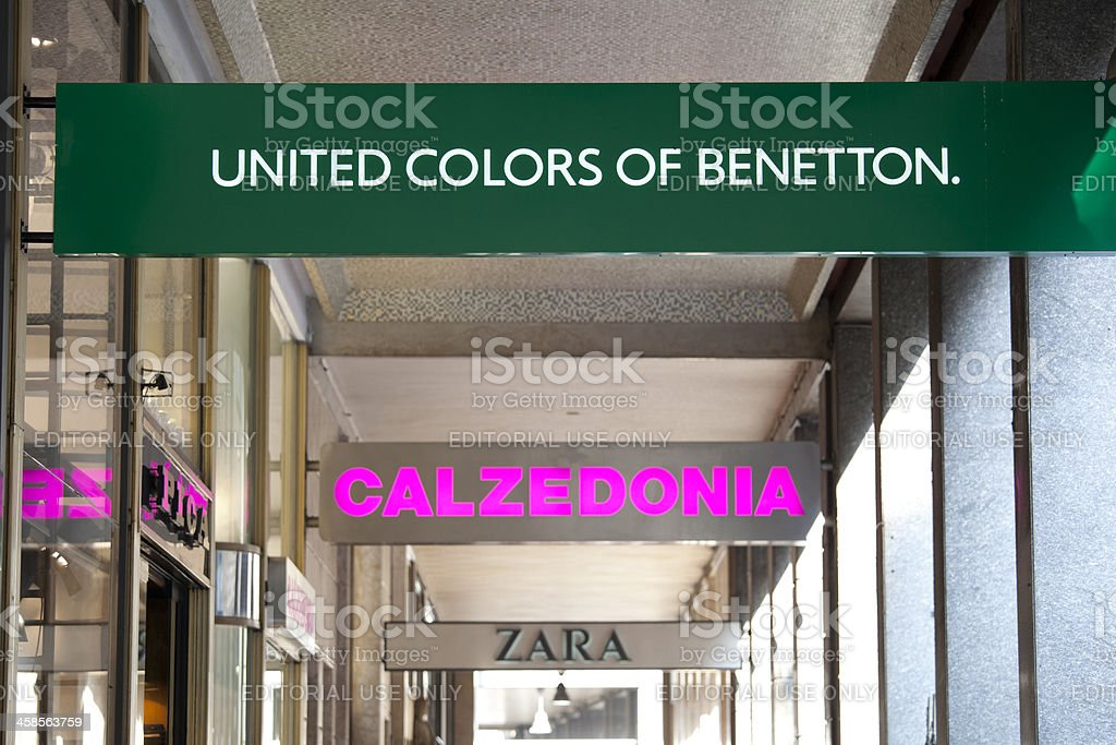 Different stores in Milan royalty-free stock photo