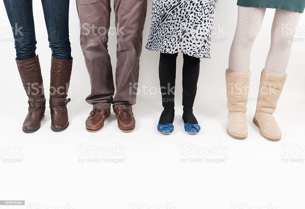 different style legs clothes - multiracial concept royalty-free stock photo