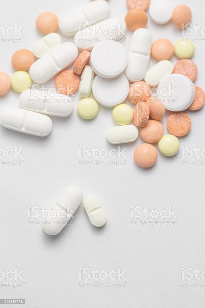 different Tablets pills l stock photo