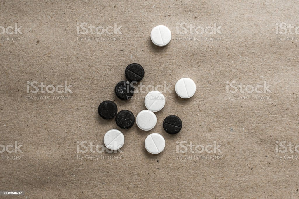 different tablets to Brown top stock photo