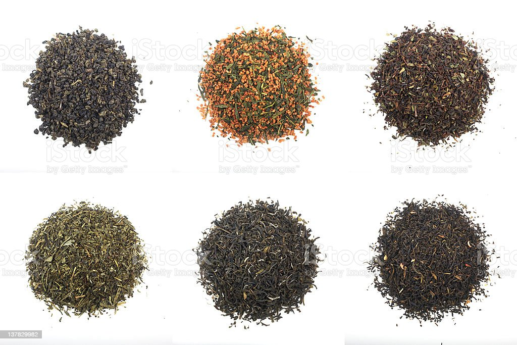different teas stock photo