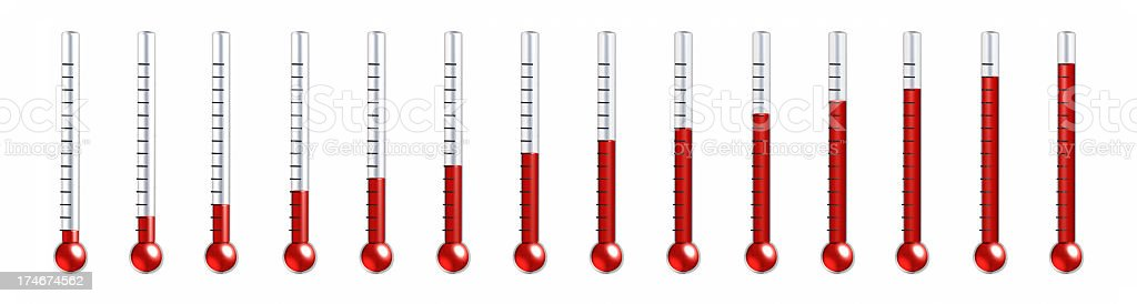 different thermometer stock photo