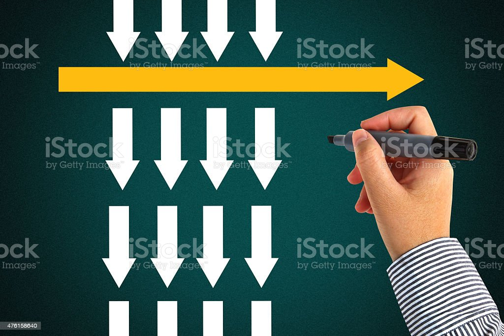 different thinking concept stock photo