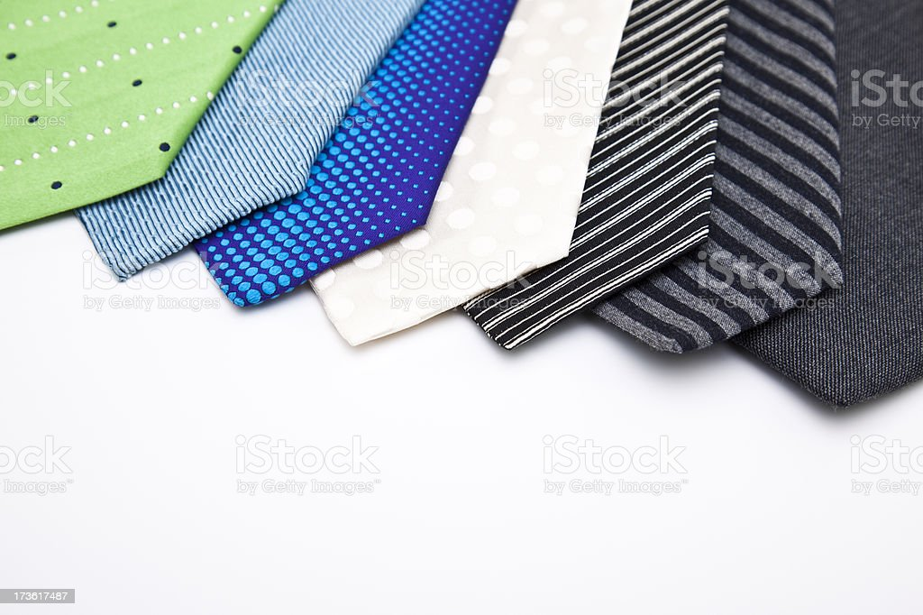 different ties royalty-free stock photo