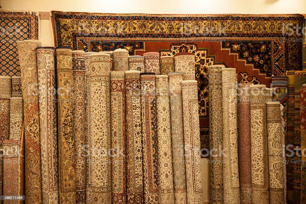 different type of rugs stock photo