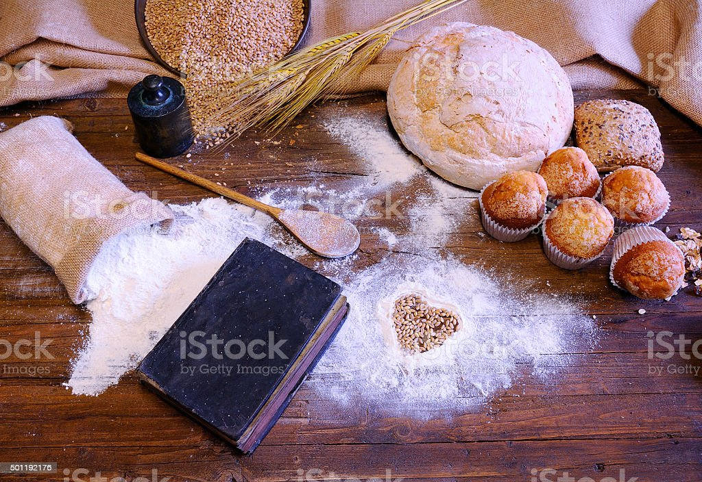Different types of bread. stock photo