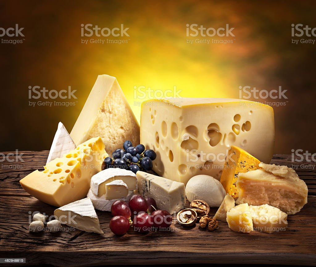Different types of cheeses. royalty-free stock photo