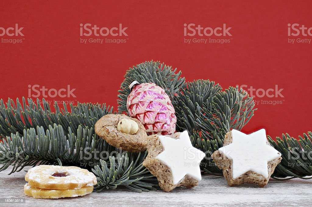 different types of Christmas cookies royalty-free stock photo
