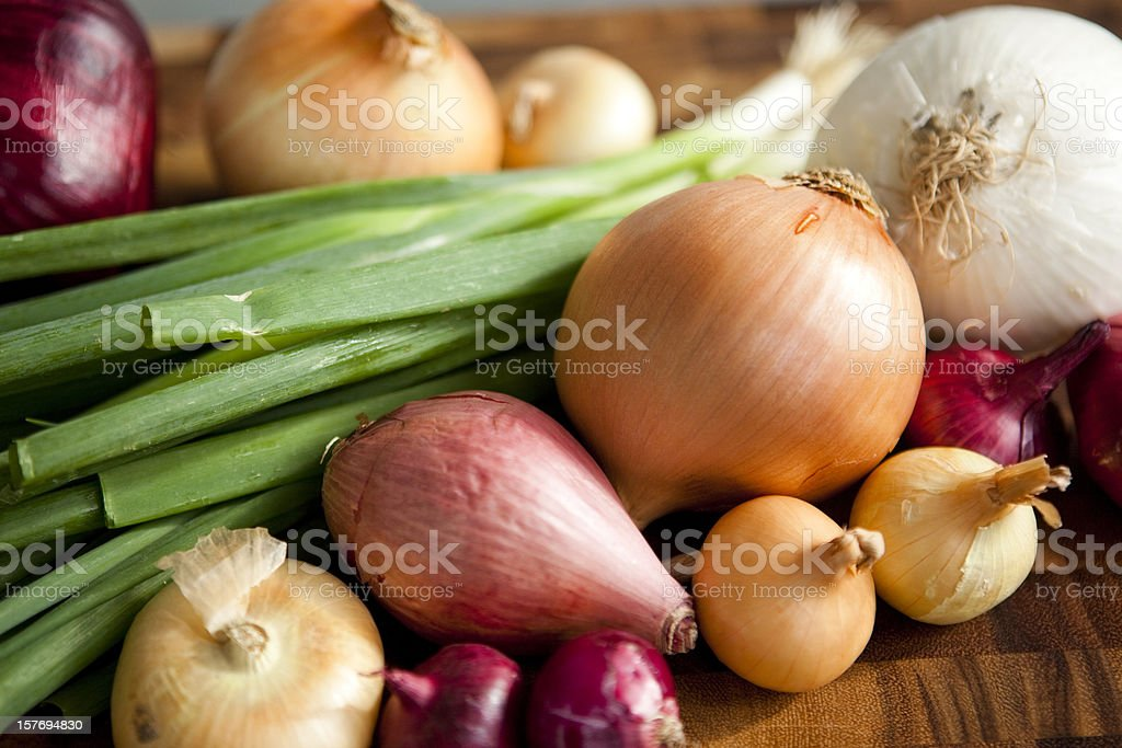 Different Types of Onions stock photo