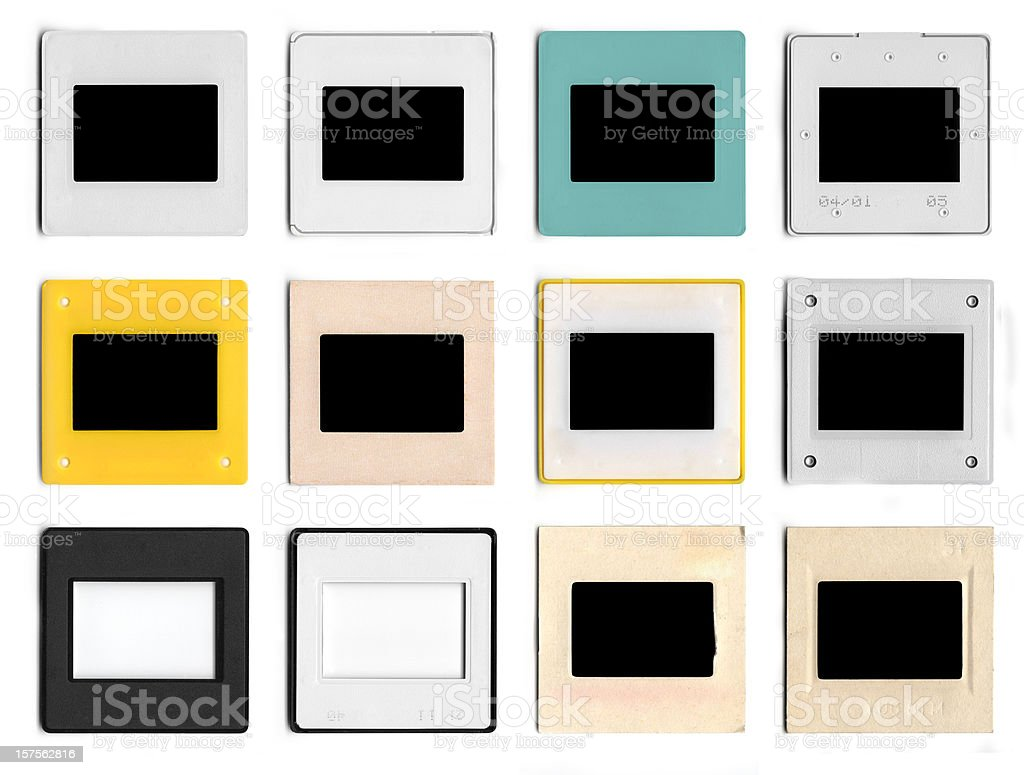 Different types of photo slide royalty-free stock photo
