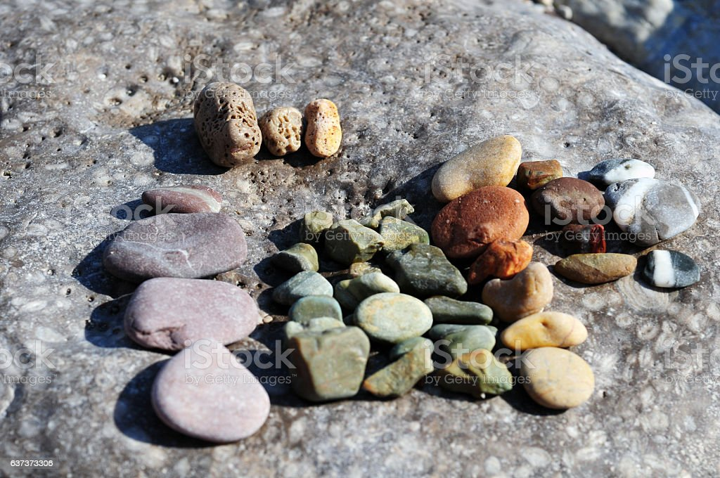 Different types of rocks stock photo