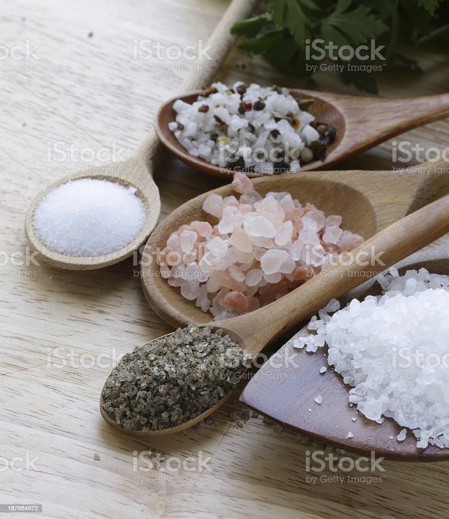 different types of salt stock photo