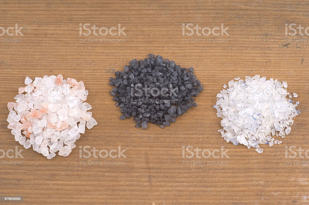 different types of sea salt stock photo