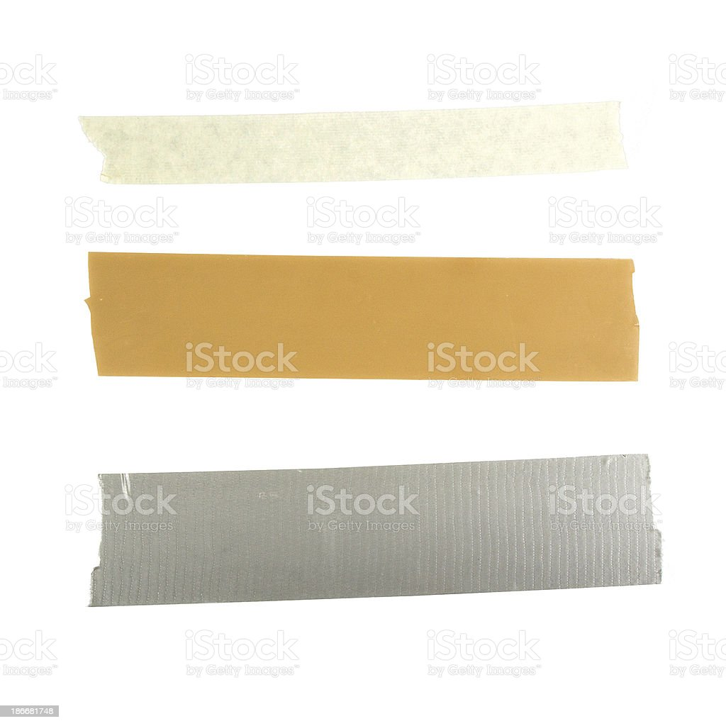 Different types of Tapes stock photo