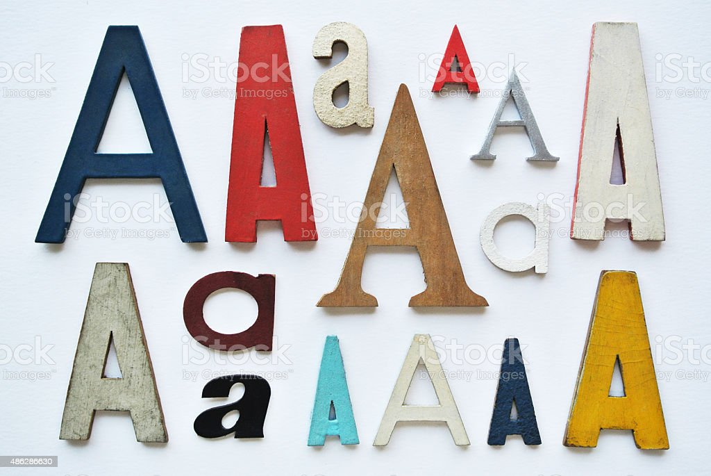 Different typography styles stock photo