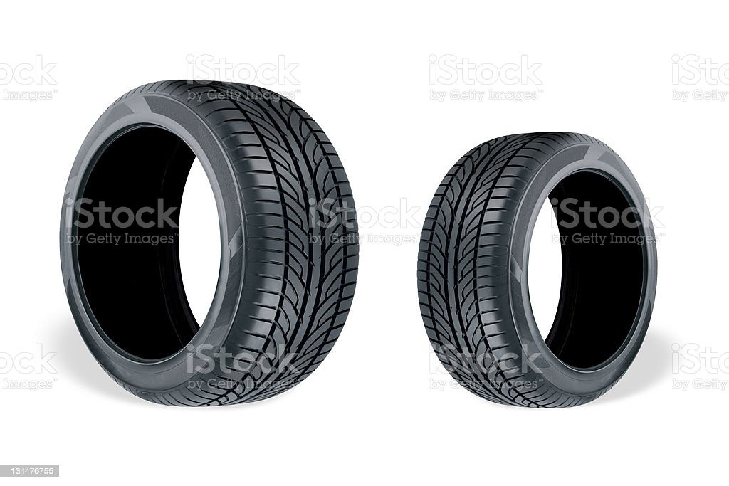 Different Tyres royalty-free stock photo