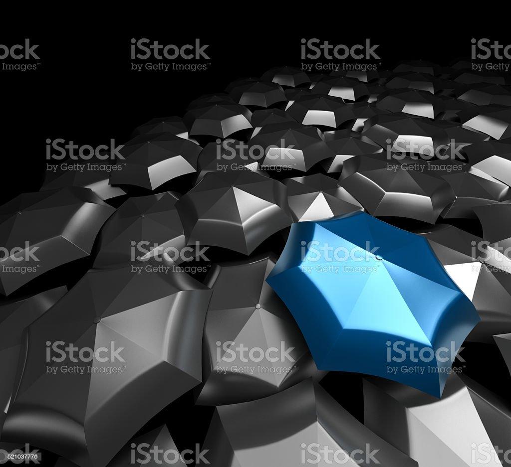 Different umbrella stock photo