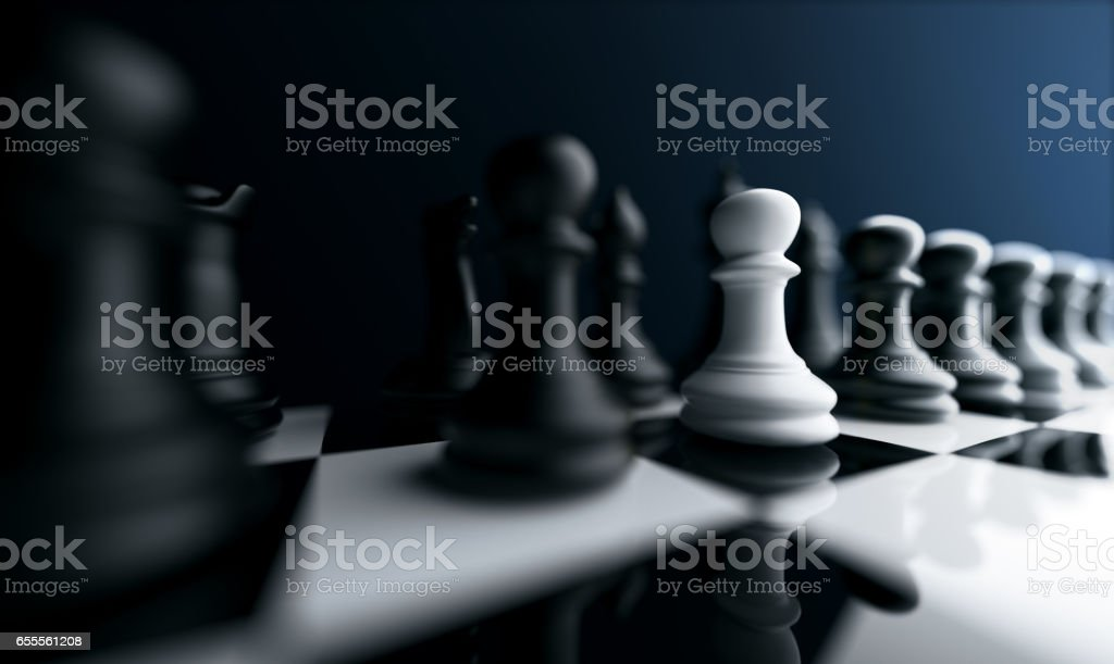 Different, unique and standing out of the crowd stock photo