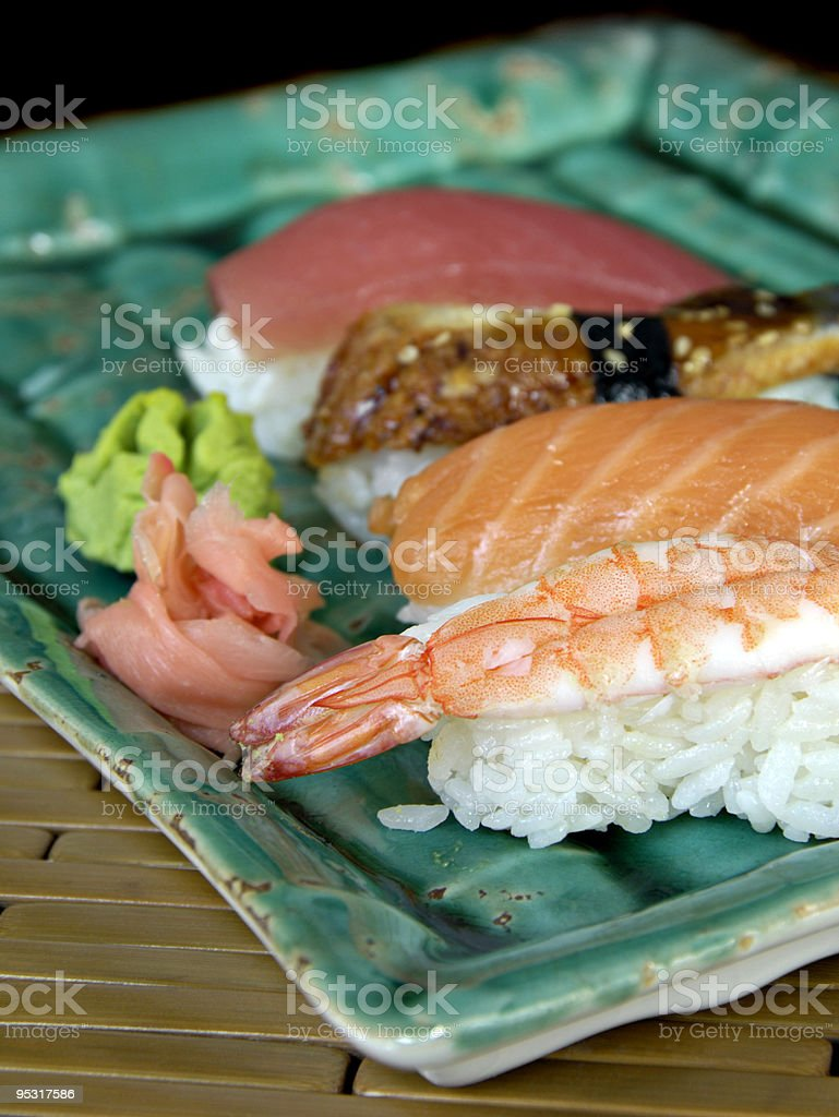 Different Varieties of Sushi royalty-free stock photo