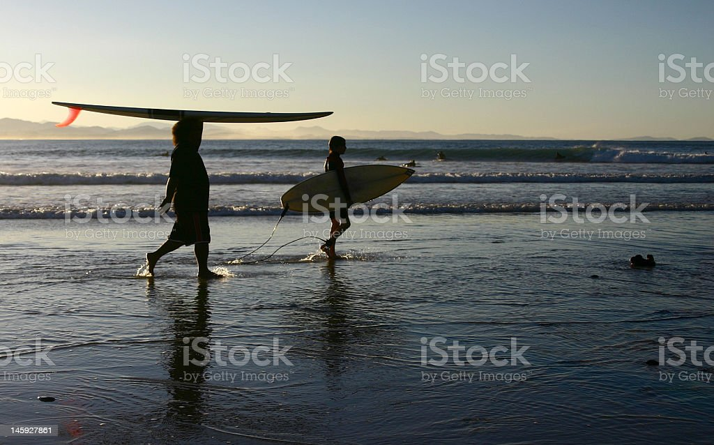 different ways of carrying a surfboard royalty-free stock photo