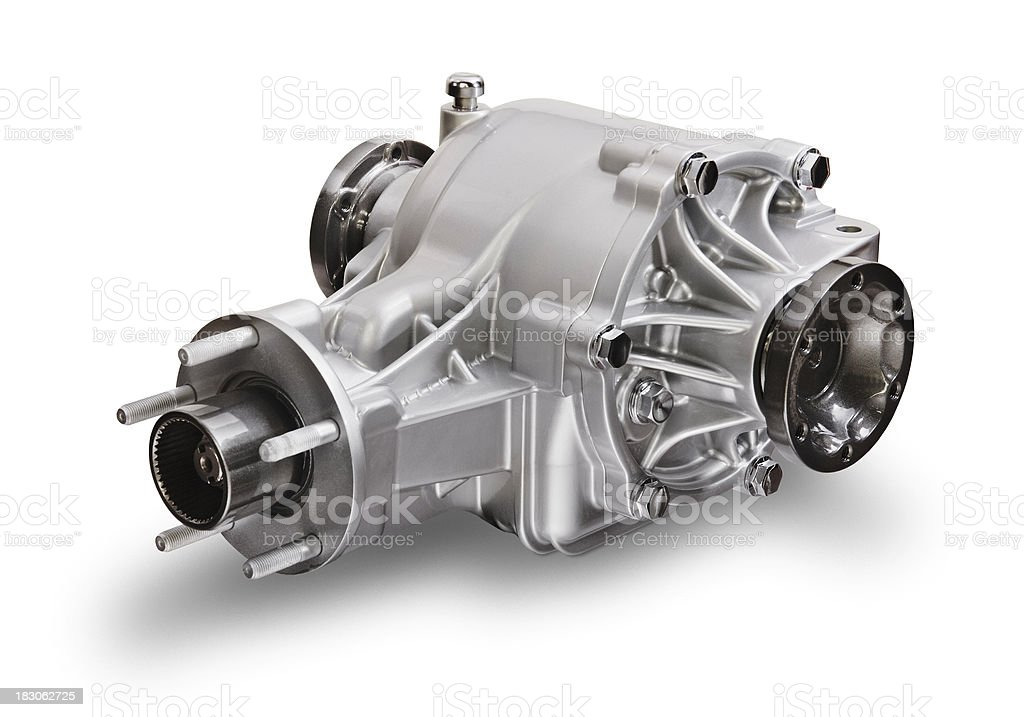 Differential of a truck motor on white background royalty-free stock photo