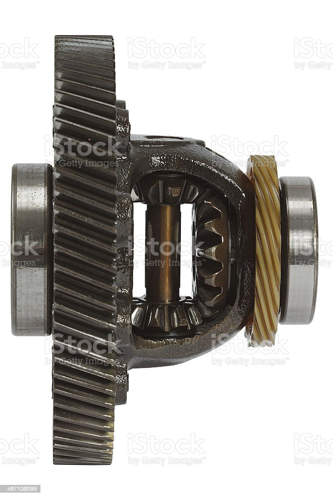 Differential of the gearbox, isolated on white background royalty-free stock photo