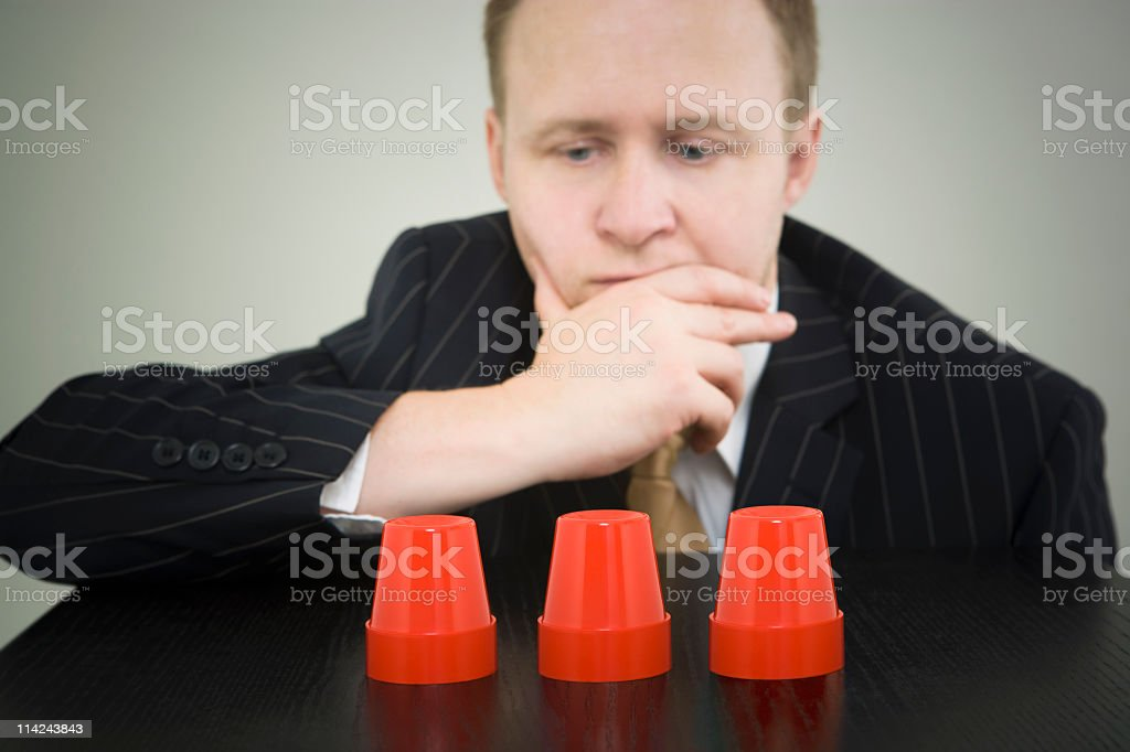 Difficult business decisions royalty-free stock photo