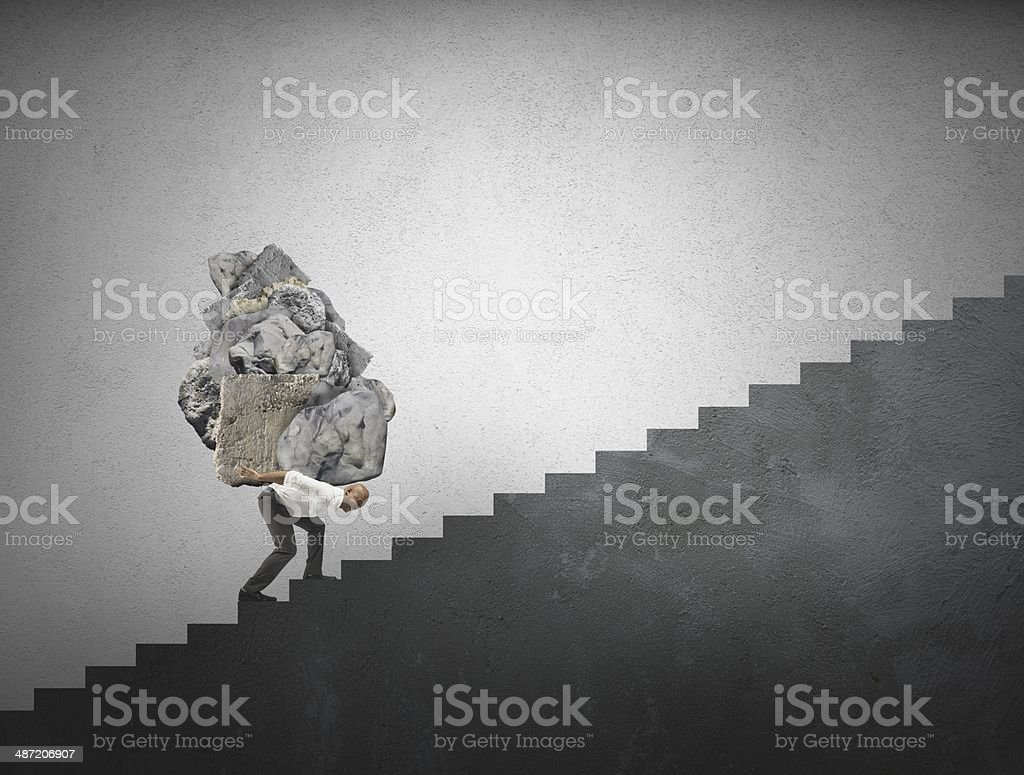 Difficult career stock photo