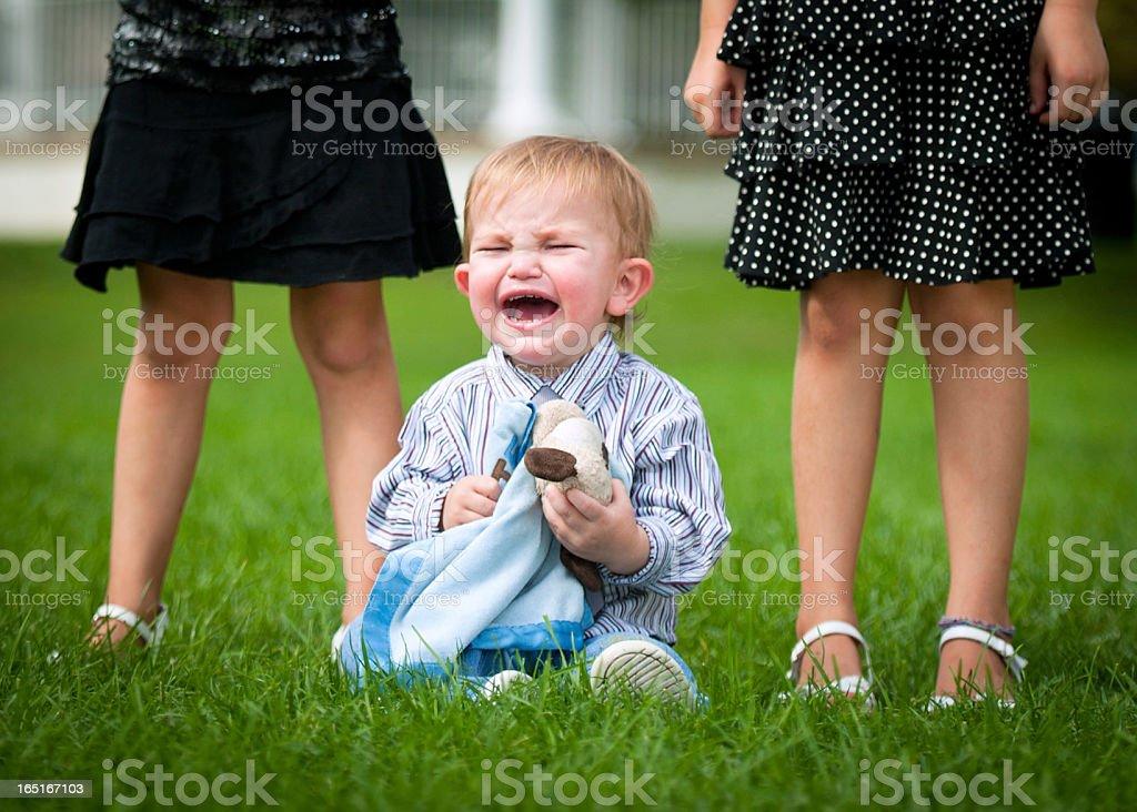 Difficult Childrens Portrait stock photo