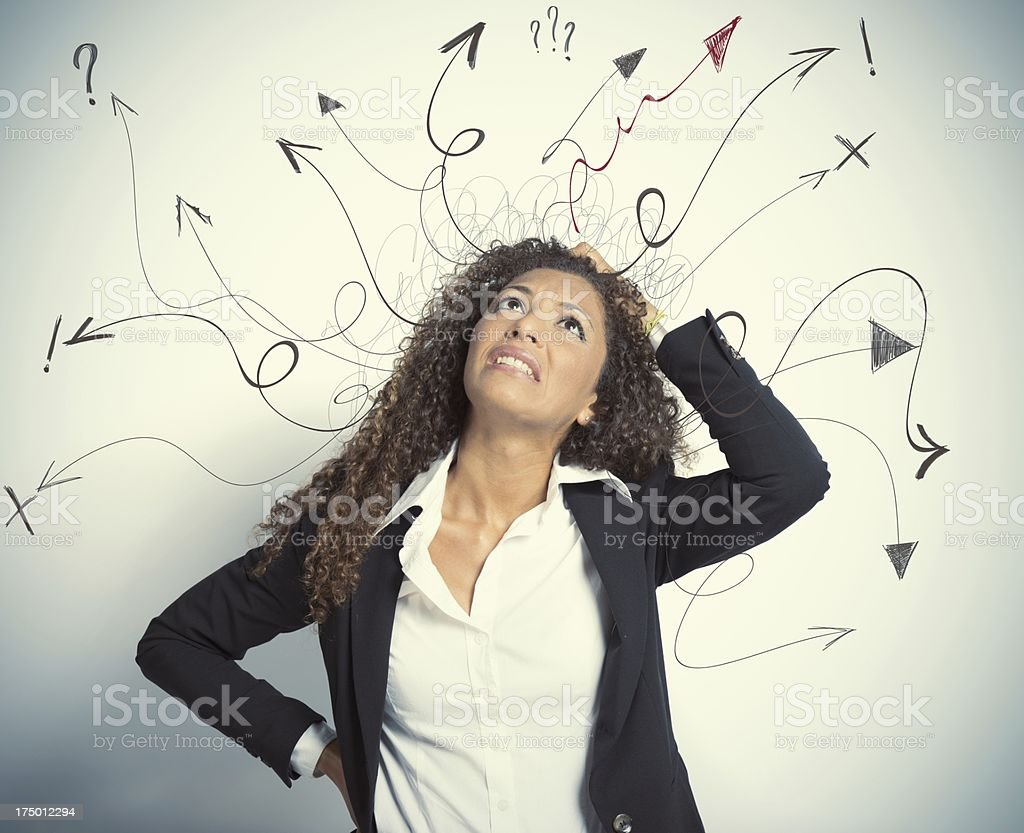 Difficult choices in business stock photo