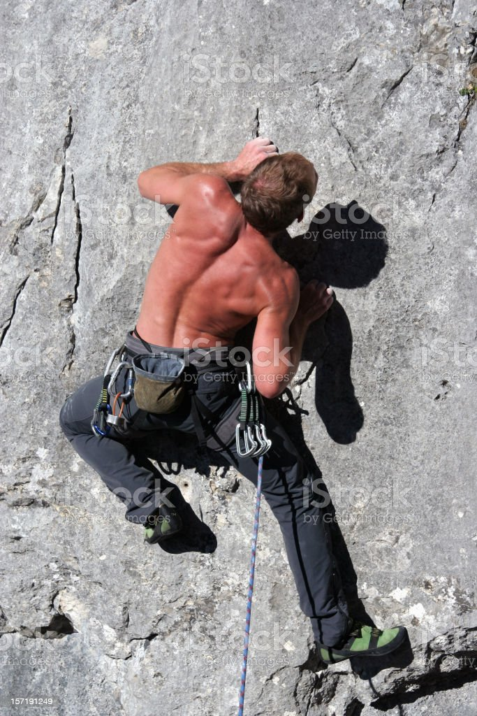 Difficult climbing route 1 royalty-free stock photo