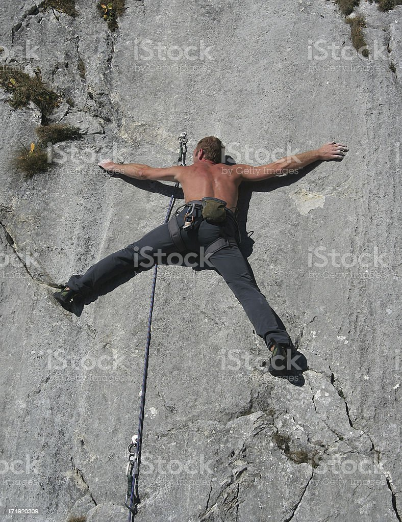 Difficult climbing route 3 stock photo