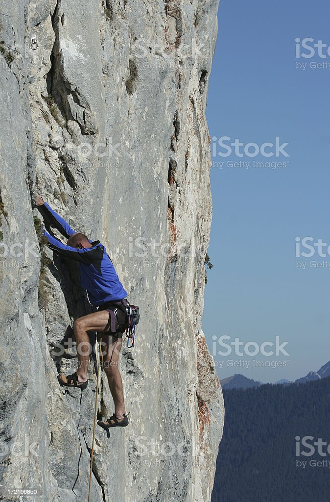 Difficult climbing route 5 stock photo