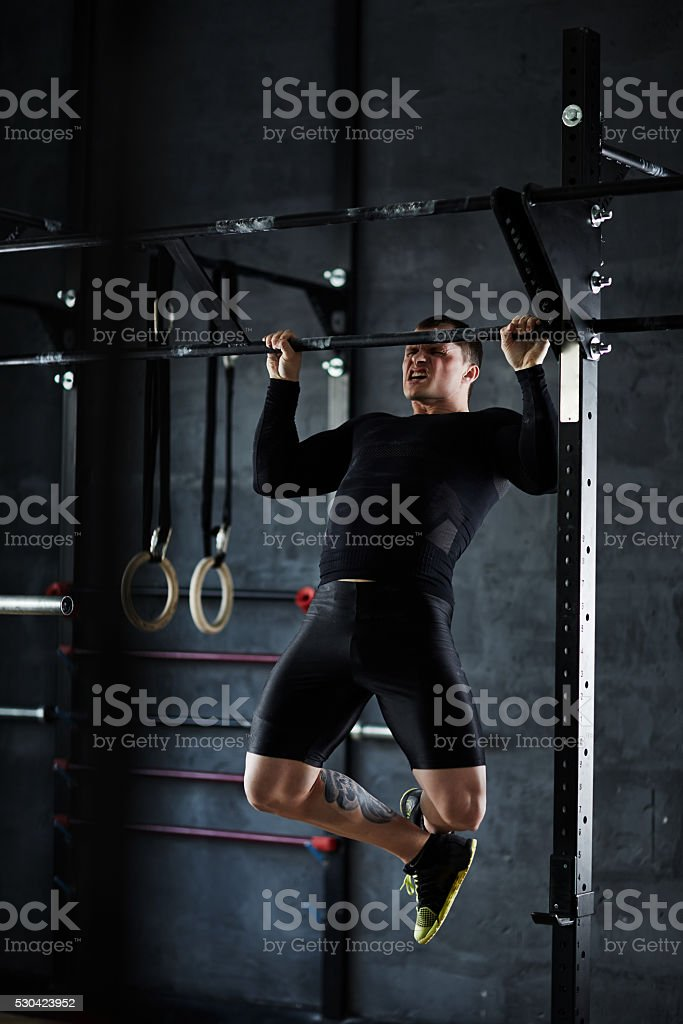 Difficult exercise stock photo