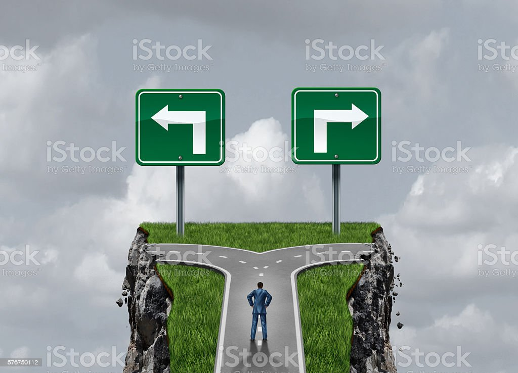 Difficult Options stock photo
