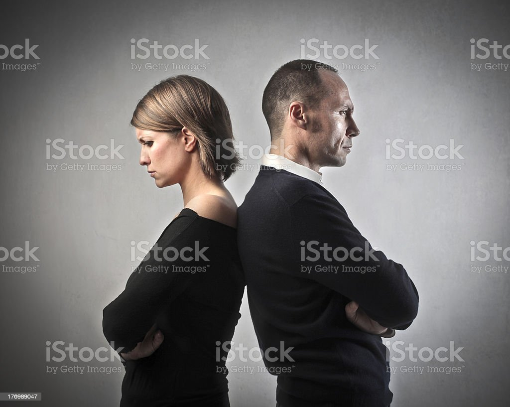 Difficult relationship stock photo