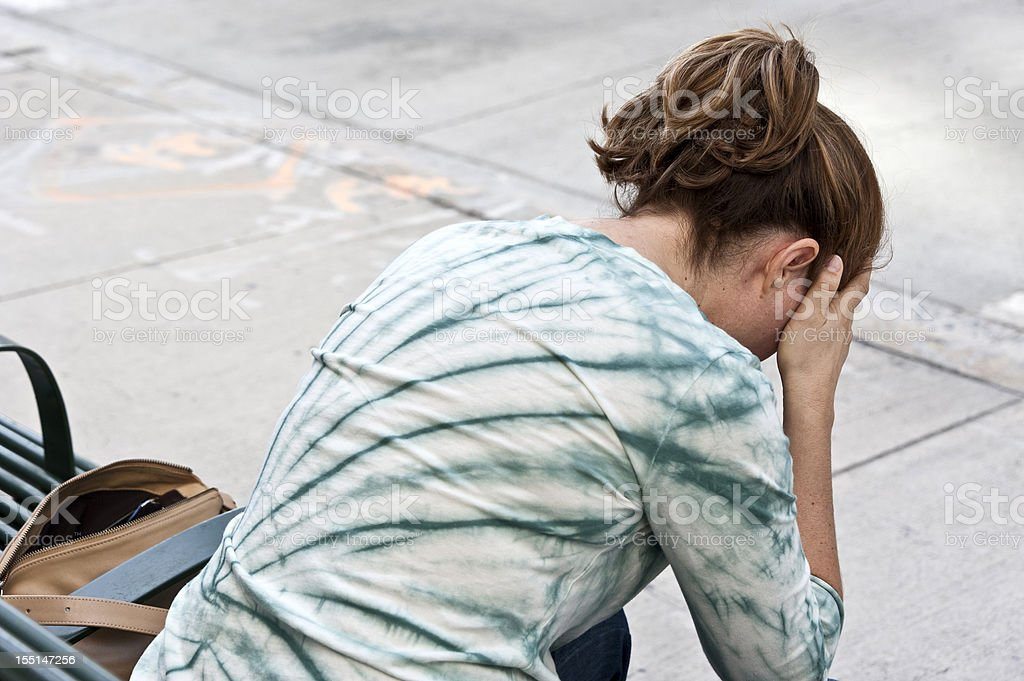 Difficult times royalty-free stock photo