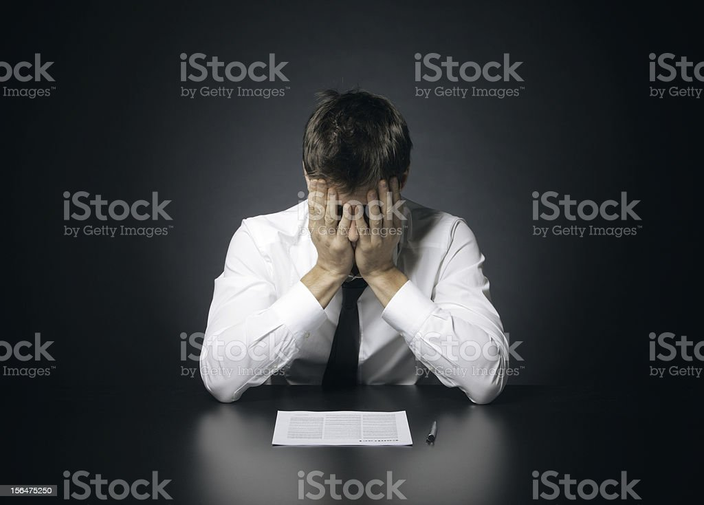 difficulties at work royalty-free stock photo