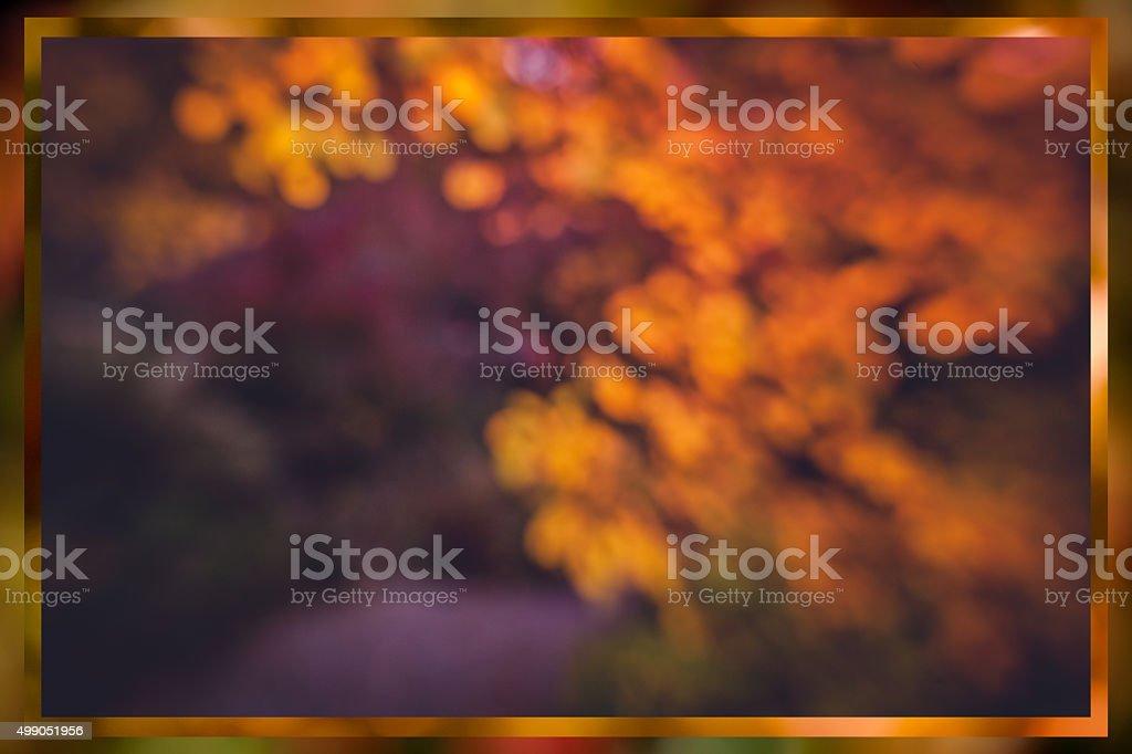 Diffused autumn colors stock photo