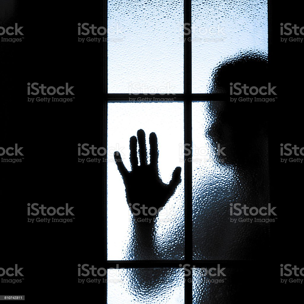 diffused silhouette of people stock photo