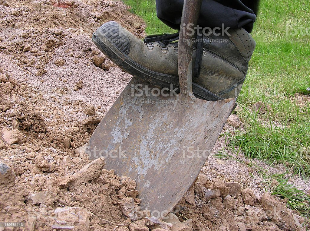 Dig 2 royalty-free stock photo