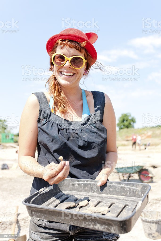Dig artefacts stock photo