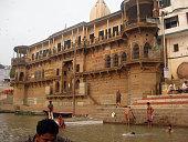 Dig Patiya Ghat and pilgrims in Gages river
